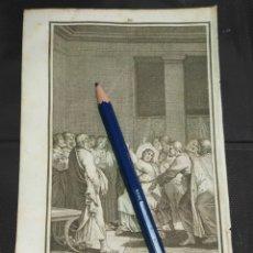 Arte: ORIGINAL GRABADO RELIGIOSO AÑO 1840 CRISTO , JESUS CON LOS APOSTOLES TRAS LA ULTIMA CENA. Lote 168915988