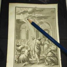 Arte: ORIGINAL GRABADO RELIGIOSO AÑO 1840 CRISTO , LA VENIDA DEL ESPIRITU SANTO PENTECOSTES. Lote 168916032