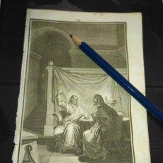 Arte: ORIGINAL GRABADO RELIGIOSO AÑO 1840 CRISTO Y NECODEMUS. Lote 168916080