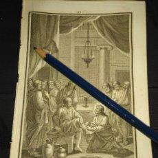 Arte: ORIGINAL GRABADO RELIGIOSO AÑO 1840 CRISTO EN EL LAVATORIO DE LOS PIES. Lote 168917208