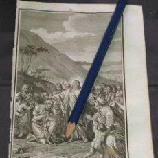 Arte: ORIGINAL GRABADO RELIGIOSO AÑO 1840 CRISTO PREDICANDO. Lote 168917260