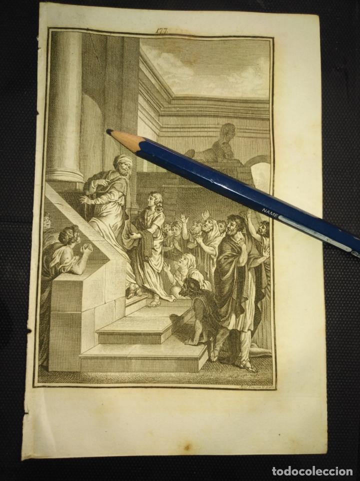 ORIGINAL GRABADO RELIGIOSO AÑO 1840 ESTER ESTHER Y MARDOQUEO EN PERSIA (Arte - Arte Religioso - Grabados)