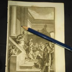 Arte: ORIGINAL GRABADO RELIGIOSO AÑO 1840 ESTER ESTHER Y MARDOQUEO EN PERSIA. Lote 168918380