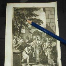 Arte: ORIGINAL GRABADO RELIGIOSO AÑO 1840 JESUS CURA AL CIEGO. Lote 168919908