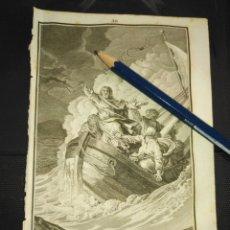Arte: ORIGINAL GRABADO RELIGIOSO AÑO 1840 JESUS CRISTO AMANSANDO A LAS AGUAS. Lote 168920380