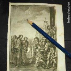 Arte: ORIGINAL GRABADO RELIGIOSO AÑO 1840 JESUS Y EL CENTURION ROMANO . CRISTO. Lote 168920544