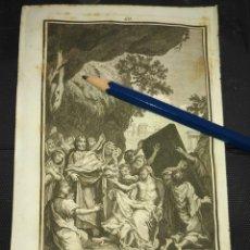 Arte: ORIGINAL GRABADO RELIGIOSO AÑO 1840 LA RESURRECCION DE LAZARO. Lote 168921028