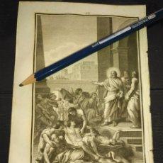 Arte: ORIGINAL GRABADO RELIGIOSO AÑO 1840 JESUS LIBERA A LOS POSEIDOS - CRISTO. Lote 168921364