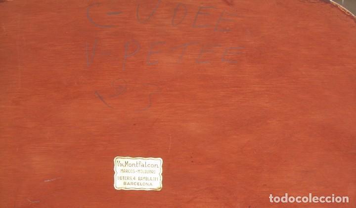 Arte: TRIPTICO RELIGIOSO CON LÁMINAS SOBRE MADERA DORADA - Foto 13 - 169112704