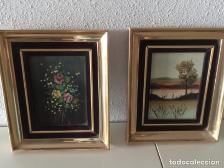 OLEO CON MARCO VINTAGE (Arte - Arte Religioso - Pintura Religiosa - Oleo)