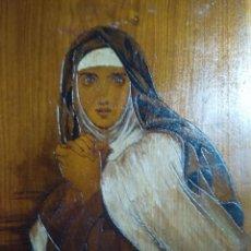 Arte: TALLA RETABLO DE LA SANTA MARIA TERESA DE AVILA O JESUS SOBRE UNA OBRA DE FRANÇOIS GERARD. Lote 169153800