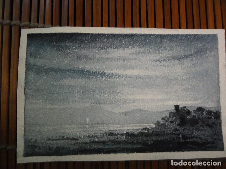 ACUARELA PAISAJE NOCTURNO (Arte - Arte Religioso - Pintura Religiosa - Acuarela)