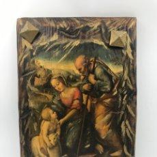 Arte: TABLA EN POLICROMIA SAGRADA FAMILIA. Lote 169193490