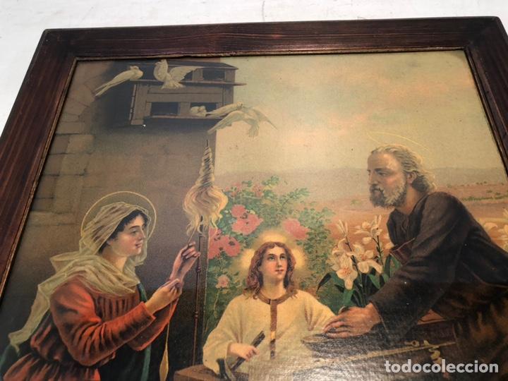Arte: CROMOLITOGRAFIA DE LA SAGRADA FAMILIA ANTIGUA. - Foto 2 - 169425016