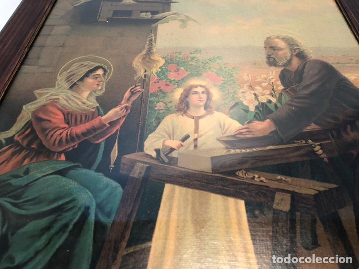 Arte: CROMOLITOGRAFIA DE LA SAGRADA FAMILIA ANTIGUA. - Foto 4 - 169425016