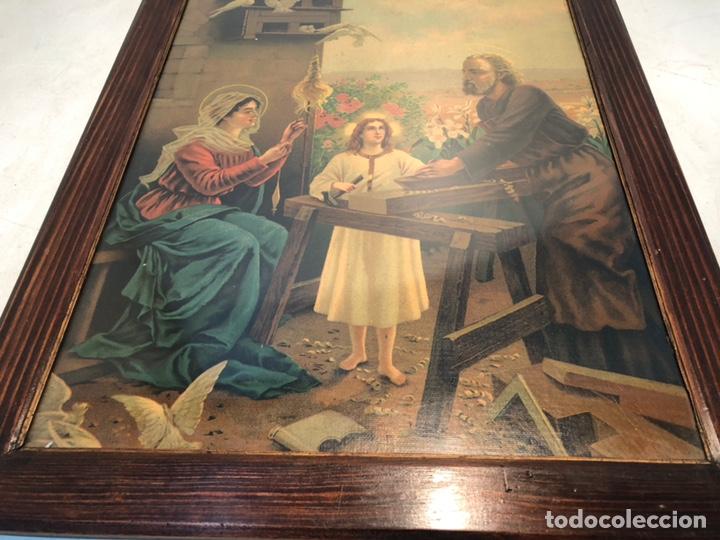 Arte: CROMOLITOGRAFIA DE LA SAGRADA FAMILIA ANTIGUA. - Foto 3 - 169425016