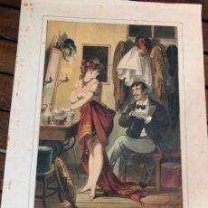 Arte: PRECIOSA LITOGRAFIA PLANAS 1878 - MEDIDA 37,5X26 CM. Lote 169439612