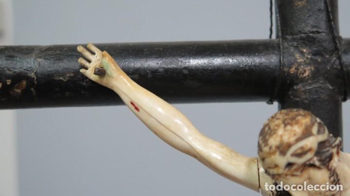 Arte: PRECIOSO CRISTO DE MARFIL. ESCUELA ESPAÑOLA. FINALES SIGLO XVIII-PPIOS. SIGLO XX - Foto 5 - 169458768