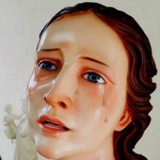Arte: ESCULTURA VIRGEN MARIA DOLOROSA TAMAÑO NATURAL . Lote 169472332