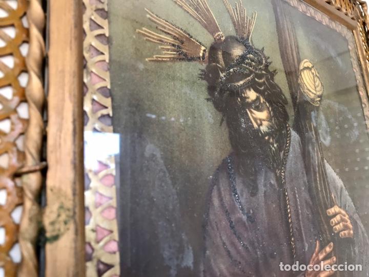 Arte: SEMANA SANTA SEVILLA. PRECIOSO Y ANTIGUO CUADRO CON LA IMAGEN DE JESÚS DEL GRAN PODER - Foto 2 - 169588621