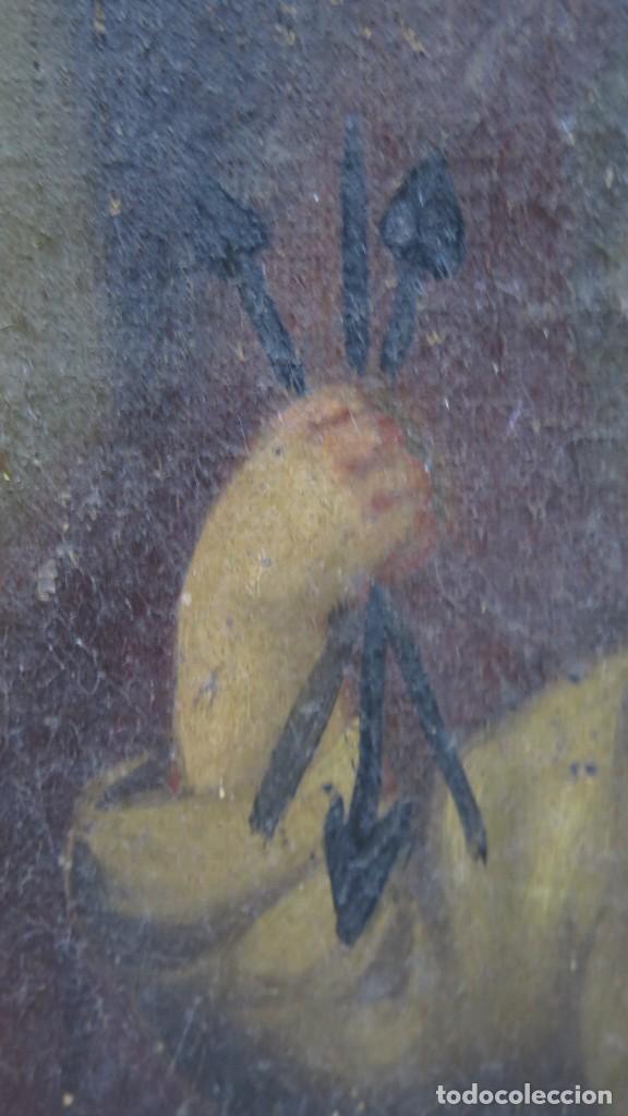 Arte: PRECIOSA SANTA FILOMENA. OLEO S/ LIENZO. ESCUELA ESPAÑOLA. SIGLO XVII-XVIII. MARCO DE EPOCA - Foto 2 - 169684968