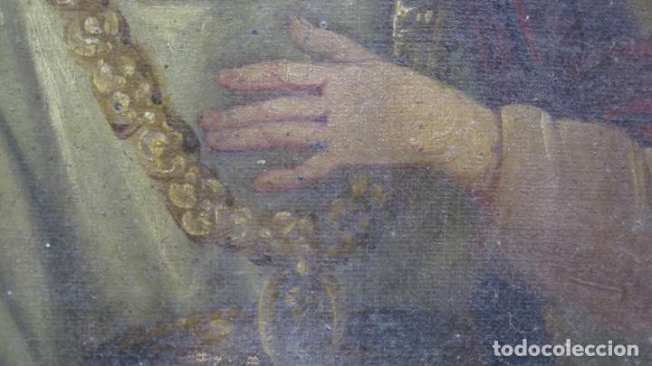 Arte: PRECIOSA SANTA FILOMENA. OLEO S/ LIENZO. ESCUELA ESPAÑOLA. SIGLO XVII-XVIII. MARCO DE EPOCA - Foto 5 - 169684968