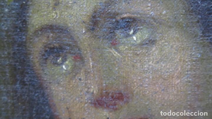 Arte: PRECIOSA SANTA FILOMENA. OLEO S/ LIENZO. ESCUELA ESPAÑOLA. SIGLO XVII-XVIII. MARCO DE EPOCA - Foto 10 - 169684968