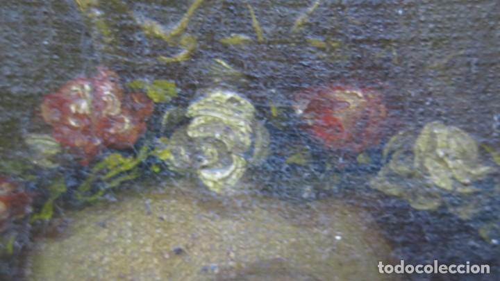 Arte: PRECIOSA SANTA FILOMENA. OLEO S/ LIENZO. ESCUELA ESPAÑOLA. SIGLO XVII-XVIII. MARCO DE EPOCA - Foto 11 - 169684968