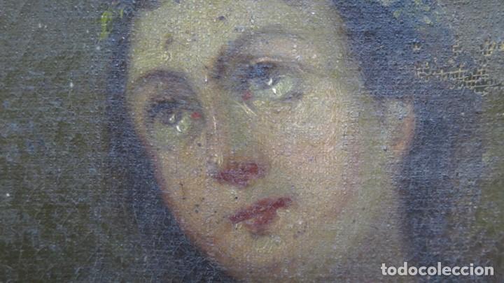 Arte: PRECIOSA SANTA FILOMENA. OLEO S/ LIENZO. ESCUELA ESPAÑOLA. SIGLO XVII-XVIII. MARCO DE EPOCA - Foto 13 - 169684968