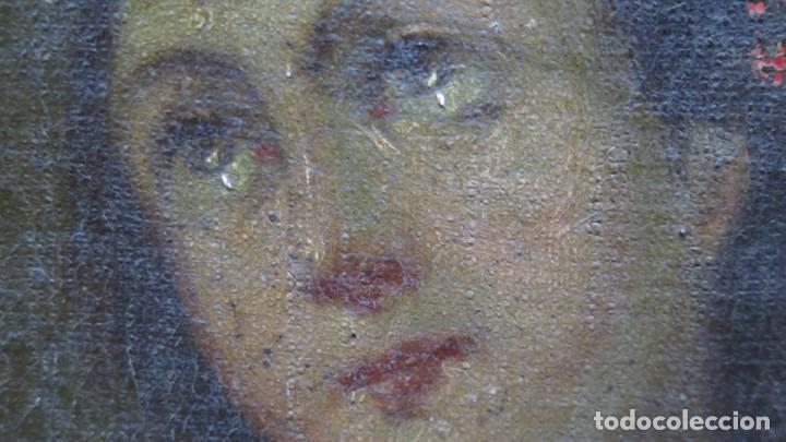 Arte: PRECIOSA SANTA FILOMENA. OLEO S/ LIENZO. ESCUELA ESPAÑOLA. SIGLO XVII-XVIII. MARCO DE EPOCA - Foto 14 - 169684968