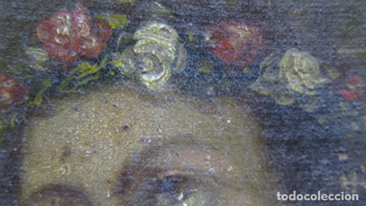 Arte: PRECIOSA SANTA FILOMENA. OLEO S/ LIENZO. ESCUELA ESPAÑOLA. SIGLO XVII-XVIII. MARCO DE EPOCA - Foto 15 - 169684968