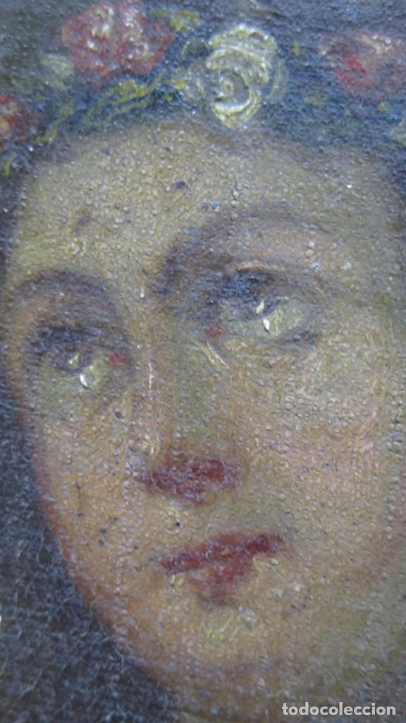 Arte: PRECIOSA SANTA FILOMENA. OLEO S/ LIENZO. ESCUELA ESPAÑOLA. SIGLO XVII-XVIII. MARCO DE EPOCA - Foto 16 - 169684968
