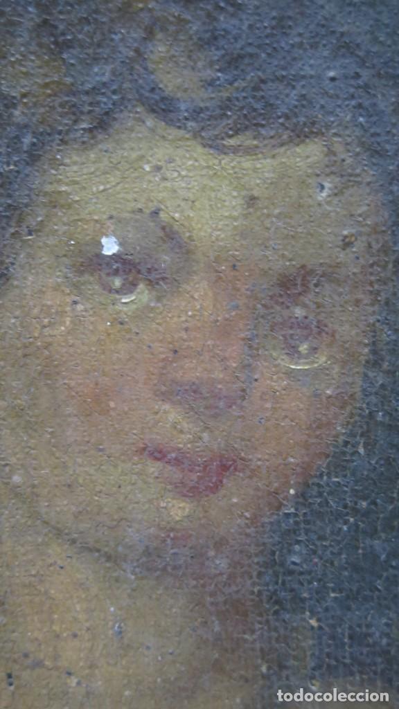 Arte: PRECIOSA SANTA FILOMENA. OLEO S/ LIENZO. ESCUELA ESPAÑOLA. SIGLO XVII-XVIII. MARCO DE EPOCA - Foto 17 - 169684968