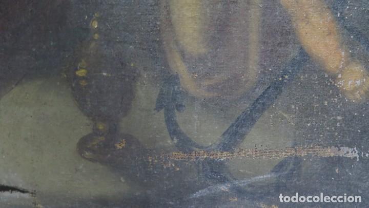 Arte: PRECIOSA SANTA FILOMENA. OLEO S/ LIENZO. ESCUELA ESPAÑOLA. SIGLO XVII-XVIII. MARCO DE EPOCA - Foto 18 - 169684968