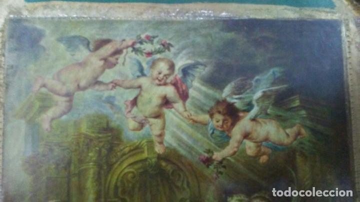 Arte: ANTIGUO TRÍPTICO ADORACIÓN A LA VIRGEN - Foto 10 - 169703580