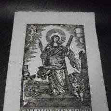 Arte: SIGLO XIX GRABADO XILOGRAFICO DE SANTA EULALIA VIRGEN Y MARTINR - RELIGION - MANRESA POR PABLO ROCA. Lote 169723916