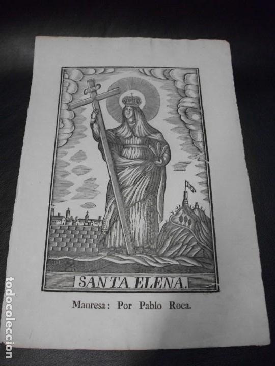 SIGLO XIX GRABADO XILOGRAFICO DE SANTA ELENA - RELIGION MANRESA POR PABLO ROCA (Arte - Arte Religioso - Grabados)