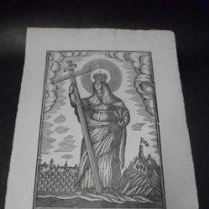 Arte: SIGLO XIX GRABADO XILOGRAFICO DE SANTA ELENA - RELIGION MANRESA POR PABLO ROCA. Lote 169723248