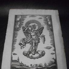 Arte: SIGLO XIX GRABADO XILOGRAFICO DE EL ANGEL DE LA GUARDA - RELIGION - MANRESA POR PABLO ROCA. Lote 169723632