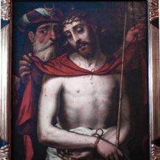 Arte: ECCE HOMO TABLA ANÓNIMA - ESCUELA ESPAÑOLA - MEDIADOS SIGLO XVI - EXTRAORDINARIA CALIDAD. Lote 169756888