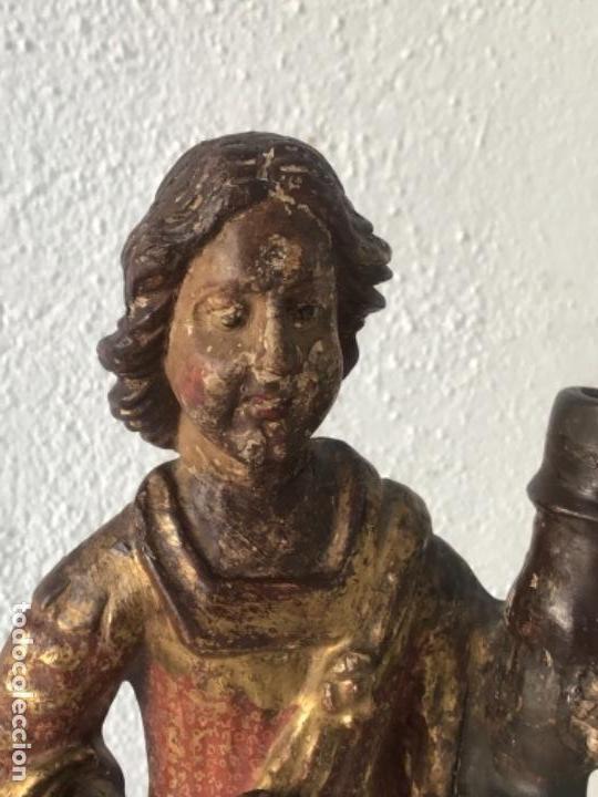 Arte: IMPORTANTE TALLA RELIGIOSA - MADERA POLICROMADA S.XVIII. - Foto 3 - 169849012