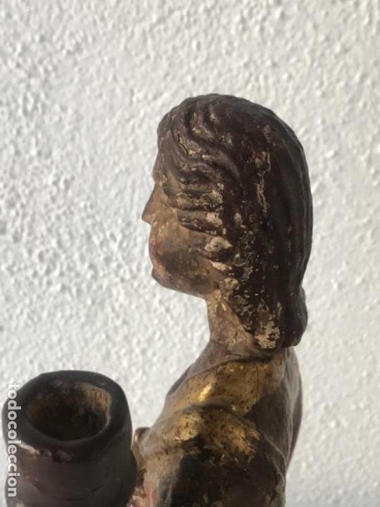 Arte: IMPORTANTE TALLA RELIGIOSA - MADERA POLICROMADA S.XVIII. - Foto 5 - 169849012