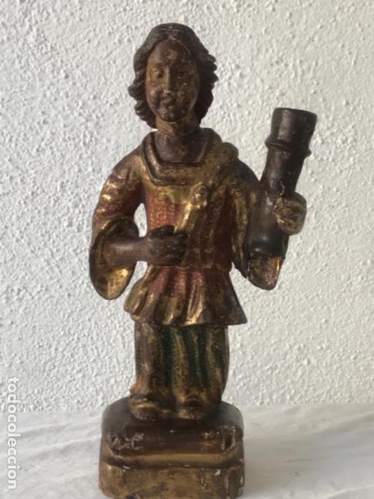 IMPORTANTE TALLA RELIGIOSA - MADERA POLICROMADA S.XVIII. (Arte - Arte Religioso - Escultura)
