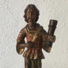 Arte: IMPORTANTE TALLA RELIGIOSA - MADERA POLICROMADA S.XVIII.. Lote 169849012