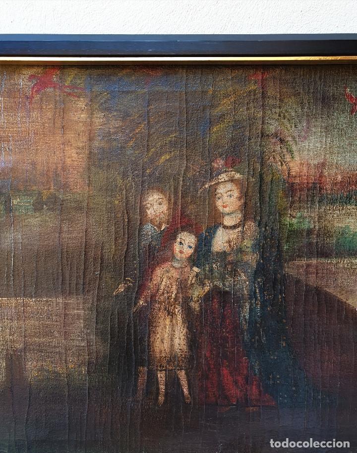 Arte: SAGRADA FAMILIA. ESCUELA COLONIAL, SIGLO XVIII. ÓLEO SOBRE LIENZO. REENTELADO. - Foto 3 - 96101131