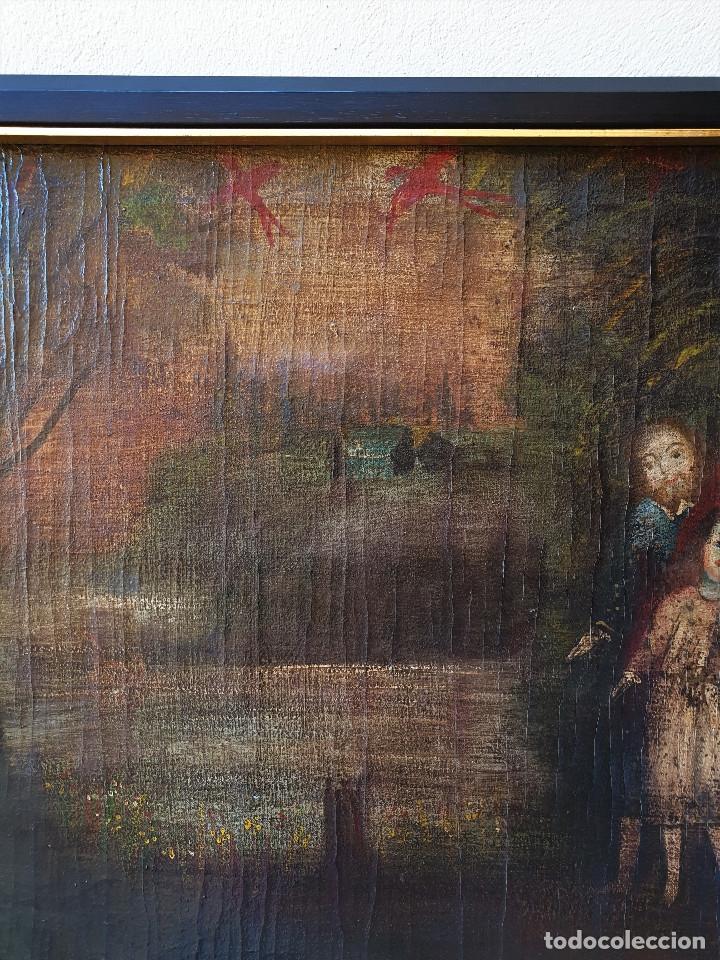 Arte: SAGRADA FAMILIA. ESCUELA COLONIAL, SIGLO XVIII. ÓLEO SOBRE LIENZO. REENTELADO. - Foto 6 - 96101131