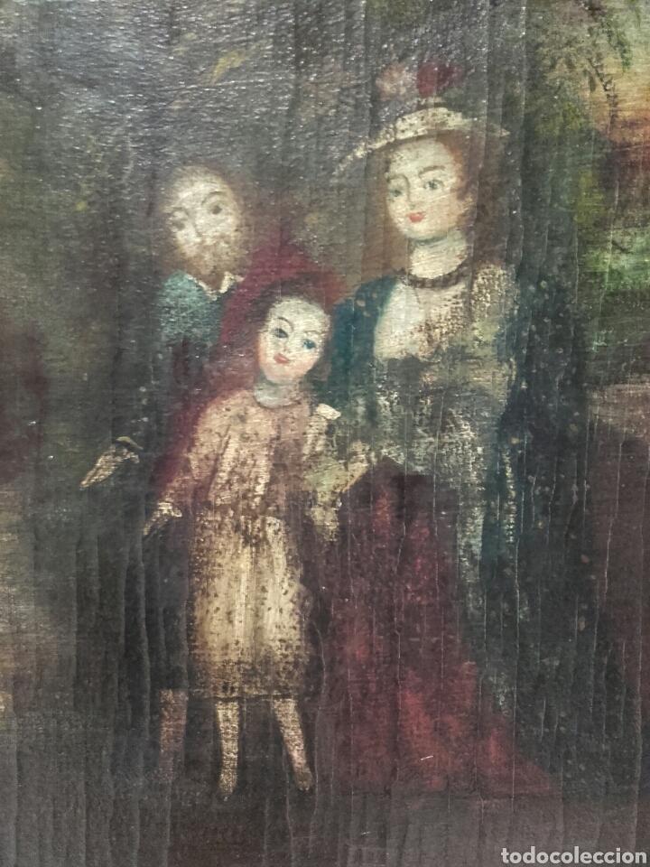 Arte: SAGRADA FAMILIA. ESCUELA COLONIAL, SIGLO XVIII. ÓLEO SOBRE LIENZO. REENTELADO. - Foto 4 - 96101131