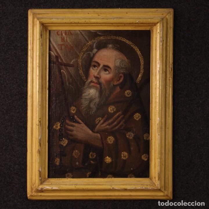 ANTIGUA PINTURA RELIGIOSA ITALIANA DEL SIGLO XVIII (Arte - Arte Religioso - Pintura Religiosa - Oleo)