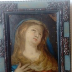 Arte: ESCUELA ESPAÑOLA S.XVIII VIRGEN DOLOROSA OLEO SOBRE COBRE. Lote 169937692