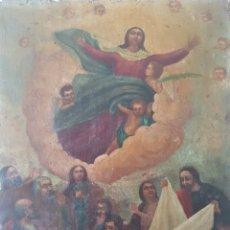 Arte: ASUNCIÓN DE LA VIRGEN MARIA - ANÓNIMO MEJICANO.OLEO/TELA.. Lote 170064565